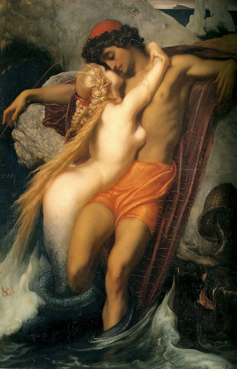 800px-Leighton-The_Fisherman_and_the_Syren-c._1856-1858